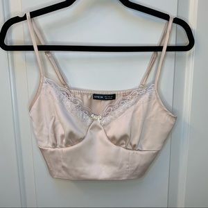 Baby pink buister corset tank top
